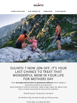 suunto - Suunto 7 now 20% off, it's your last chance to treat that wonderful mom in your life for Mothers Day