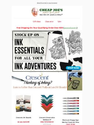 Cheap Joe's Art Stuff - Ink-spiration Enclosed!