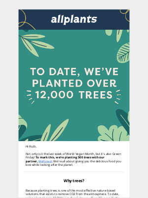 allplants (UK) - We're planting 500 trees for Green Friday 🌳