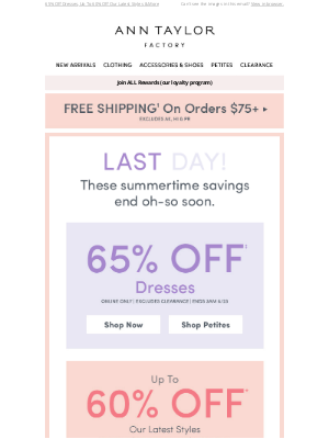 Ann Taylor - Final Hours: 4 AMAZING DEALS END TONIGHT (!)