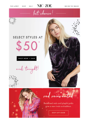 NIC+ZOE - Last chance: best sellers only $50