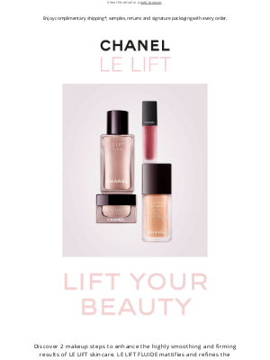 CHANEL - Complement the smoothing and firming benefits of LE LIFT skincare