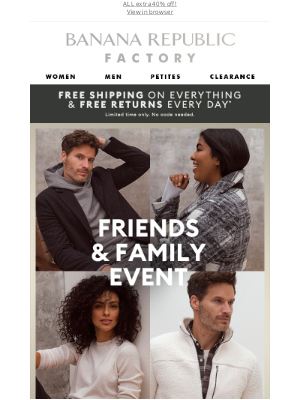 Banana Republic Factory - Friends & Family Spotlight: New arrivals we ❤️