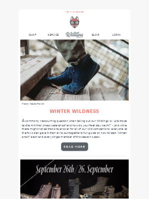 Wildling Shoes - Let's winter-proof our wild companions