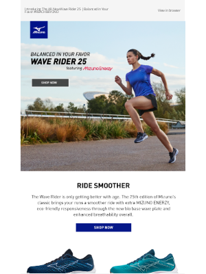 Mizuno Running - The All-New Wave Rider 25 Available Now on MizunoUSA.com and The Official App + Free Shipping