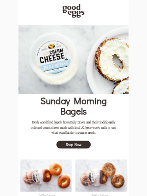 Sunday mornings are for fresh bagels