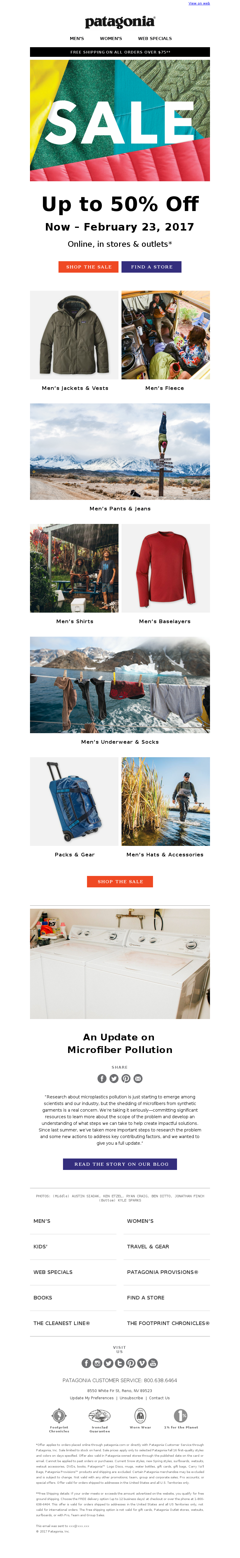 Save big on past-season products through February 23. View on web patagonia