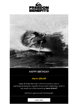 Quiksilver - Happy Birthday — we got you a little something