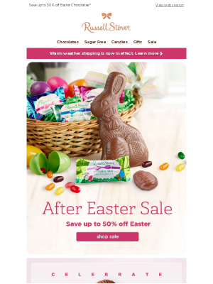 Russell Stover Candies - Hop on over to our After Easter Sale