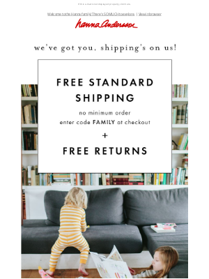 Hanna Andersson - Pssst...shipping is on us❤️