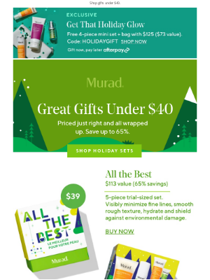 Murad - The best gifts under $40.