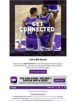 Sacramento Kings - Let's Connect! 📲