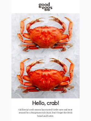 Good Eggs - Local crab 🦀 has arrived!