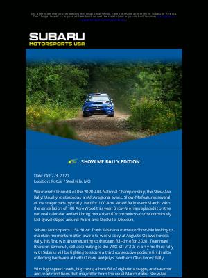 Subaru of America - MOTORSPORTS NEWS: Show-Me Rally