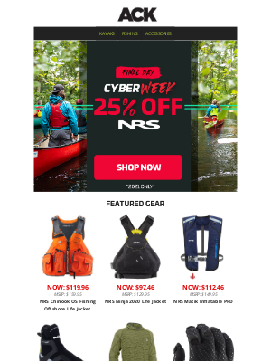 Austin Kayak - Last Chance to Save –25% Off NRS & 10% Off BOTE