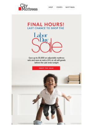 City Mattress - Post-Labor Day Savings Are Snoozing Soon!