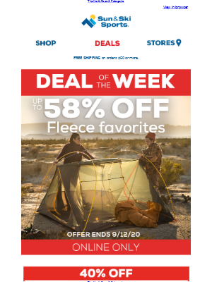 Sun & Ski - Deal of the Week - up to 58% OFF Fleece Faves.