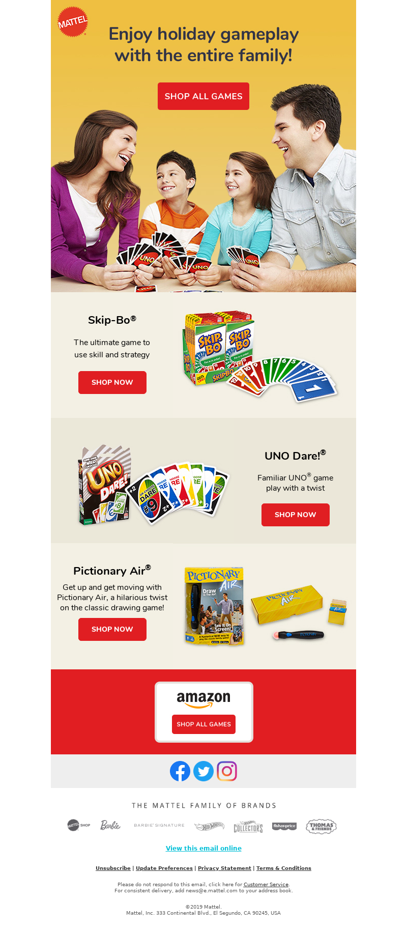 Enjoy holiday gameplay with the entire family! Skip-Bo® Skip-Bo® The ultima