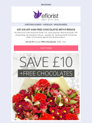 eFlorist (UK) - Get £10 Off Our Favourite Christmas Bouquet