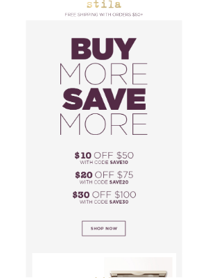 Up to $30 off site-wide, no exclusions!