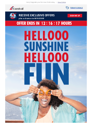 Carnival Cruise Line - Last chance to book with extra perks!