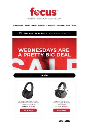 Mid Week Savings | Enjoy Deals From Sony, JBL & Fujifilm