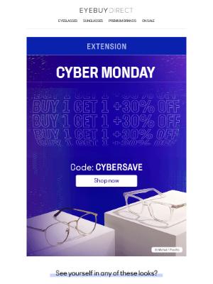 EyeBuyDirect - BUY 1 GET 1 + 30% OFF ✨ You've got savings waiting