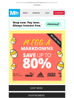 M and M Direct (UK) - M-EGG-A Markdowns 📢 UP TO 80% OFF
