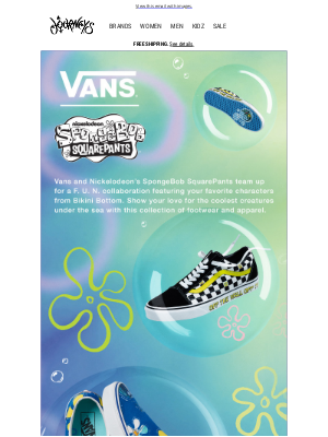 Journeys - JUST DROPPED: Vans x SpongeBob SquarePants 🧽