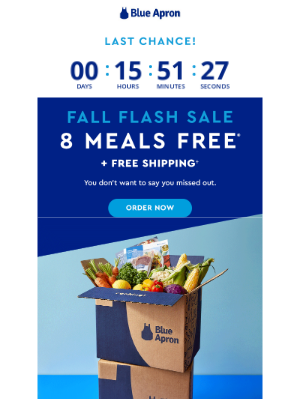 Blue Apron - Last call for 8 free meals!