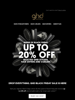 ghd (UK) - Up to 20% off ghd. Black Friday is here
