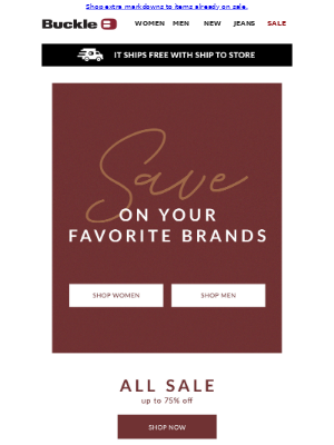 Your favorite brands are on SALE!