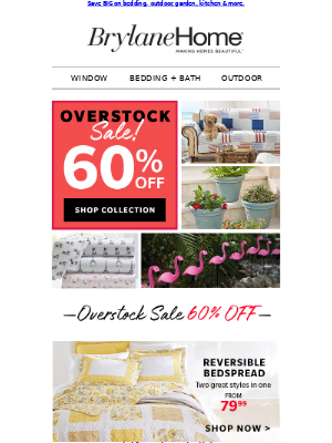 OVERSTOCK COLLECTION = NOW 60% OFF!