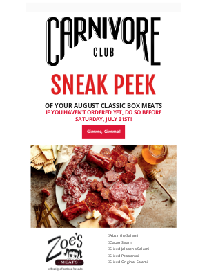 Carnivore Club (CA) - Warning 🚨 Delicious meats inside