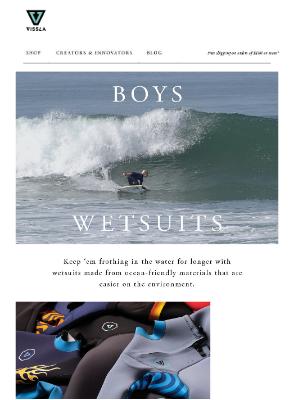 VISSLA - Boys Wetsuits