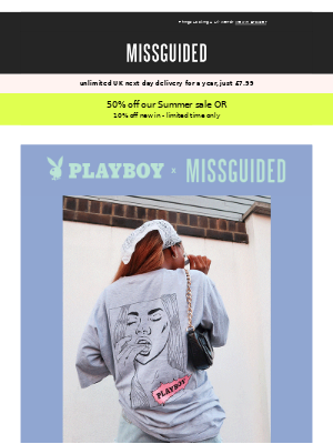 #Trending: Playboy x Missguided 🔥⚡️