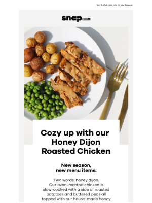 Snap Kitchen - 🍁 Fall in love with our new Honey Dijon Roasted Chicken