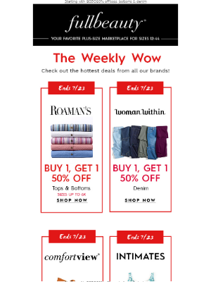 Full Beauty - Because you deserve it…check out this week's VERY BEST offers…