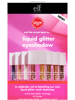 e.l.f. Cosmetics - Award winning Liquid Glitter Eyeshadow ⭐️