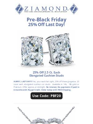 Ziamond - 👋 Bye...25% Off Pre-Black Friday👋