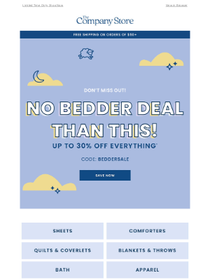 The Company Store - NO BEDDER DEAL THAN THIS👉