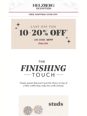 Helzberg Diamonds - Uh-Oh! Up to 20% Off Ends Today!