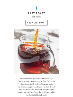 Blue Bottle Coffee - Last Roast | Our Limited-Edition Fall Blend