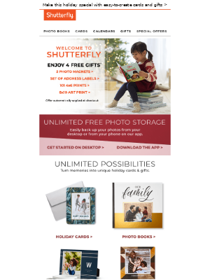 Shutterfly - Welcome to Shutterfly! Enjoy 4 FREE gifts