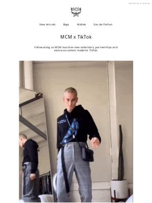 MCM - Join Us on TikTok @mcmworldwide