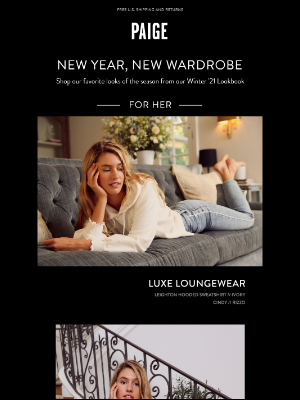 PAIGE - New Year, New Wardrobe // Shop The Edit