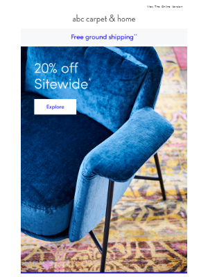 Shop 20% off something for every room
