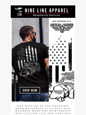 NineLineApparel - American Warrior Garage Adventure Design 🚙