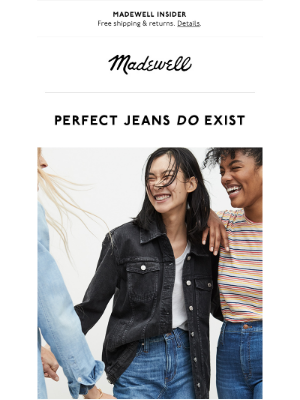 Madewell - Really flattering jeans