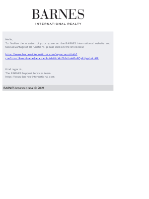 Dear BARNES member, please finalise your account registration